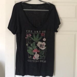Baggy urban outfitters graphic t shirt